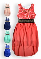 Girls Party Dress New Kids Sleeveless Pretty Lace Party Dresses Ages 3-12 Years