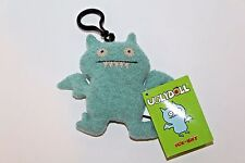 Gund UGLY DOLL KEYCHAIN ICE-BAT LIGHT BLUE NEW WITH TAGS clip on PLUSH KEYCHAIN