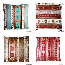 Large Turkish Moroccan Arabic Colourful Kilim Design Floor Cushion Cover 65cm