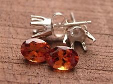 HESSONITE AND .925 STERLING SILVER, MAKE YOUR OWN EARRINGS, STONES AND SETTINGS