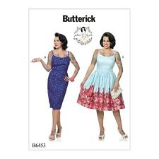 BUTTERICK SEWING PATTERN BY GERTIE MISSES' DRESS DRESSES SIZE 6 - 22 B6453