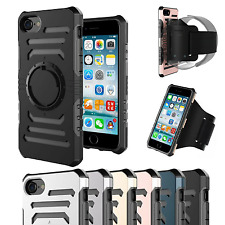 Shockproof Tough Armor Back Case Cover ARMBAND for Apple iPhone 8 6S 6 7 Plus