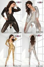Gogo Outfit Overall S/M 36-38 Table Dance Dessous Clubwear Dress Catsuit