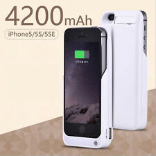 4200mAh External Power Back Battery Charger Case Cover For Apple iPhone 5 5s SE