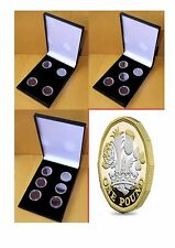Display Case for 4, 5 or 6 - 12 Sided £1 Coins inluding Ring Type Coin Capsules