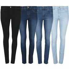 Womens Ex Zara Skinny Denim Jeans Ladies Slim Fitted Faded Stretch Pants Trouser