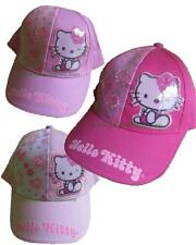 Cappellino Bimba Hello Kitty Fiori Baseball Con Visiera PS 08264