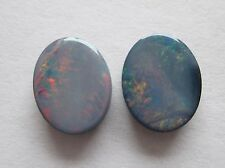 3.00 cts of Australian Opal Doublets w/ Queensland Boulder Backing # TAO 3050 B