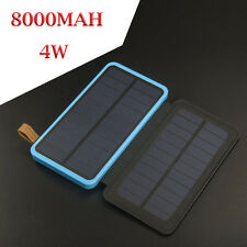 Portable 8000mAh 4W Solar Dual USB Battery Charger LED Power Bank For Smartphone