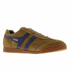 Gola Sport Harrier Suede Tobacco Navy Mens Trainers