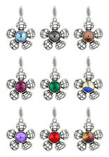 Sterling Silver Flower Pendants made with 1122 Rivoli 8.3mm Swarovski® Crystals