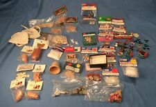 DOLL HOUSE MINIATURES CHRISTMAS CRAFT LOT, NEW, SOME OUT OF PACKAGE DIORAMAS