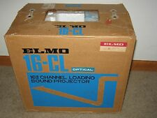 VINTAGE ELMO 16-CL OPTICAL 16MM CHANNEL LOADING SOUND PROJECTOR IN BOX RARE LQQK