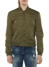 NUOVO TOMMY HILFIGER GIACCA DONNA BOMBER DW0DW01655 VERDE SCURO GREEN