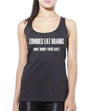 Zombies Eat Brains, Don't Worry You're Safe Womens Vest Tank Top