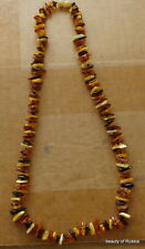Antique Natural multicolor  Baltic Amber Beads Necklace   23-24.0 inches  #40 se