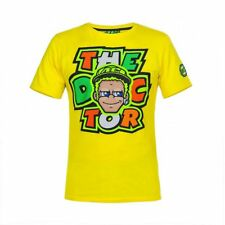 Official VR46 Valentino Rossi MotoGP Comic The Doctor Cotton T-Shirt - Yellow
