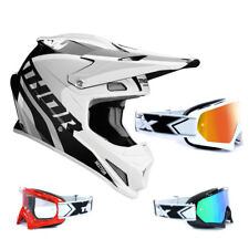 THOR SECTOR RICOCHET Mx Enduro Motocross Casco Blanco Gris two-x