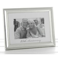 "25th Silver Wedding Anniversary Photo Frame  6x4""  ideal gift NEW  18109"