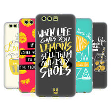 HEAD CASE DESIGNS LIFE AND LEMONS SOFT GEL CASE FOR HUAWEI P10 PLUS
