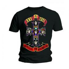 Guns N Roses T Shirt Appetite for Destruction Official Black Mens Tee Rock Merch