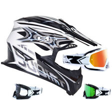 SUOMY CASCO CROSS RUMBLE visión PLATA two-x RACE MX Gafas de Motocross enduro