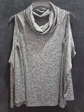 Cha Cha Vente Plus Size 1X 2X 3X Cowl Neck Knit Top LS Cutout Shoulders NWOT Z1