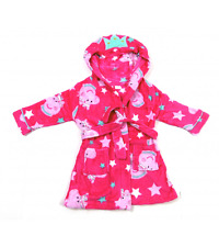 NEW Girls Peppa Pig Hooded Soft Touch Dressing Gown Ages 2,3,4,5,6 Years