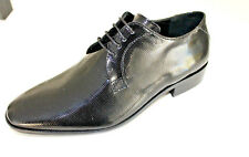 Scarpe cerimonia uomo NERO francesine sposo cuoio made in Italy shoes laether