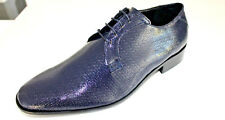 Scarpe cerimonia uomo BLU francesine pun sposo cuoio made in Italy shoes laether