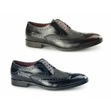 Azor PALETTA Mens Leather Formal Lace Up Round Toe Derby Brogues Shoes