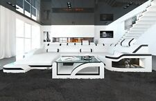 Designer Sofa Interior Design Palermo U-Shape with LED Luxury Sofa White Black