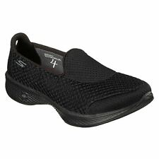 Skechers Go Walk 4 - Kindle Black Womens Trainers Pumps Slip on Active