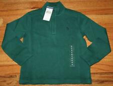 NEW NWT Polo Ralph Lauren Boys Half Zip Hunter Green Pullover Sweater *2G