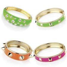 Studded Bangle Neon Colours Green Orange Pink Punk Rock