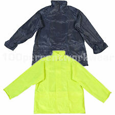 Warrior 0118NPJ Lightweight Waterproof Rain Jacket with Hood PVC Coated Nylon