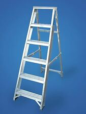 Lyte Aluminium Class 1 Industrial Builders Swingback Step Ladders 3-12 Tread