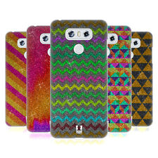 HEAD CASE DESIGNS PATTERN GLITTER COVER RETRO RIGIDA PER LG TELEFONI 1