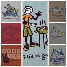 Life is Good Men's Crusher Short-Sleeve T-shirt Many Patterns NEW Tags MSRP $26