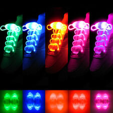 NUEVO CON LUZ LED cordones de Zapatos Fiesta Disco Clubbing FLASH 8 color brillo