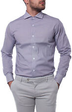 Camicia SLIM FIT collo francese micro fantasia colorata uomo cotone PE