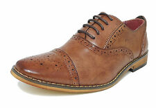 Boys Tan  Leather Lined Lace Up Smart Brogues Shoes Size 11 12 13 1 2 3 4 5 5.5