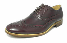 Mens Leather Lined Smart Lace Up Oxford Brogues Shoes OX BLOOD SIZE 6-14   M9556