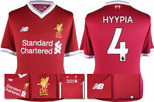 17 / 18 - NEW BALANCE ; LIVERPOOL HOME SHIRT SS / HYYPIA 4 = KIDS*