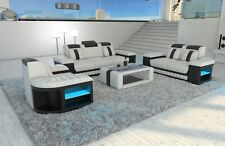 Sofa Set Suite Design Bellagio 3-2-1 LED Lighting Leather Sofa