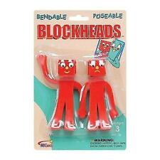 NJ Croce Gumby Blockheads G & J Bendable Figure Pair New