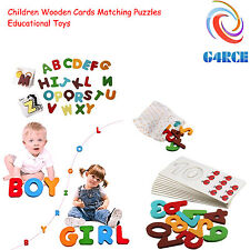 26PCS Wooden A-Z Alphabet Letters & Animal Card Children Baby Early Learning Toy