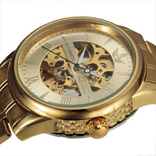 Stainless Steel Skeleton Relogio Masculino Mens Automatic Mechanical Wrist Watch
