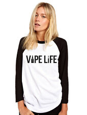 Vape Life - Vape Vaping E-Cig Womens Baseball Top
