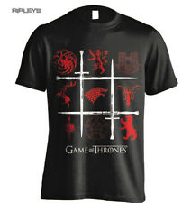 Official T Shirt Game of Thrones Red House Sigils SWORDS Grid All Sizes
